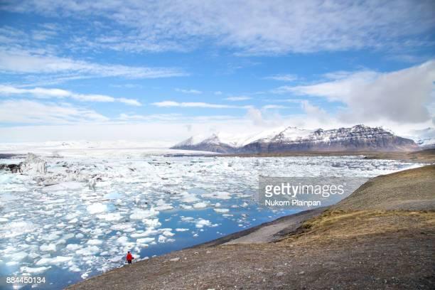 jokulsarlon ice lagoon, iceland - バトナ氷河 ストックフォトと画像