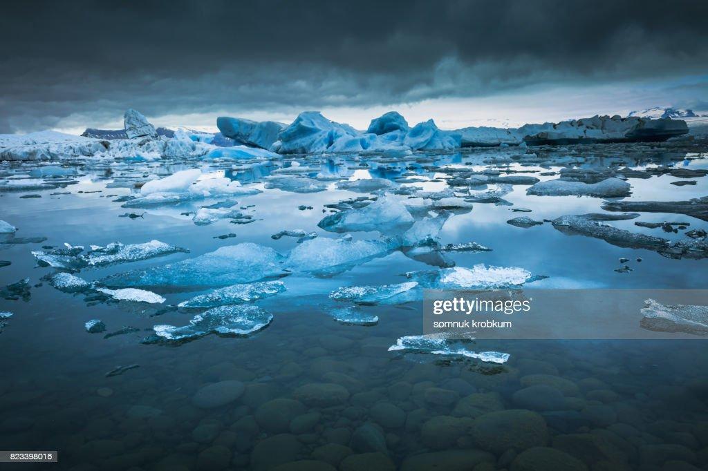 Jokulsarlon lagoon in summer;Iceland : Stock Photo