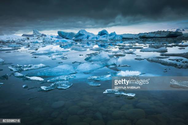 jokulsarlon lagoon in summer;iceland - glacier lagoon stock photos and pictures