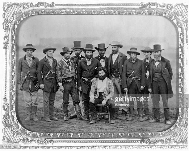 Joky Doy, a convicted slave liberator, was rescued by this group from the St. Joseph, Missouri jail. Photo,1859.