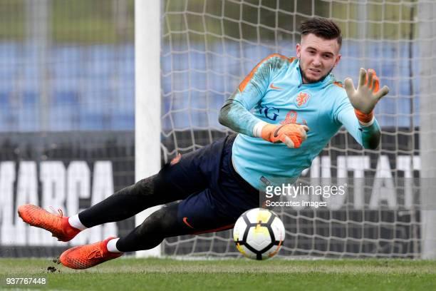 Jo'l Drommel of Holland U21 during the Training Holland U21 at the Ciutat Esportiva Dani Jarque on March 25 2018 in Mataro Spain