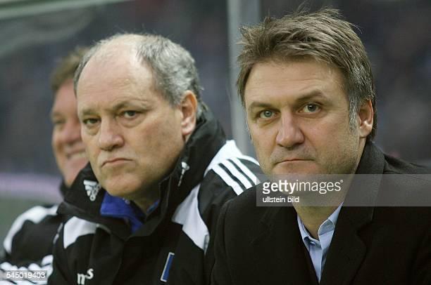 Jol, Martin - Coach, Hamburger SV, The Netherlands - next to Dietmar Beiersdorfer , Director of Sport and Vice-Chairman