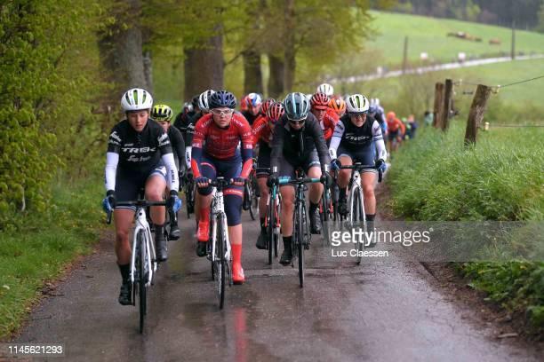Jolanda Neff of Switzerland and Trek-Segafredo / Maria Novolodskaya of Rusia and Team Cogeas Mettler Look / Cecilie Uttrup Ludwig of Denmark and...