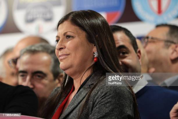 Jole Santelli during her speech in Lamezia Terme , Italy, on 26 January 2020. Jole Santelli becomes new President of the Calabria Region, at the end...