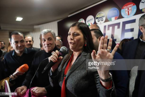 Jole Santelli in the press room during her speech in Lamezia Terme , Italy, on 26 January 2020. Jole Santelli becomes new President of the Calabria...