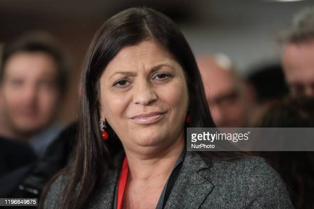 Jole Santelli is waiting to be interviewed in Lamezia Terme , Italy, on 26 January 2020. Jole Santelli becomes new President of the Calabria Region,...