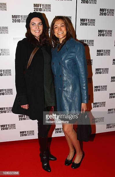 Jolene Anderson and Nicole Da Silva attend the opening night premier of The Wedding Party during the Melbourne International Film Festival at the...