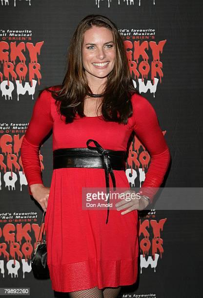 "Jolene Anderson arrives for the ""Rocky Horror Show"" held at Star City on February 21, 2008 in Sydney, Australia."