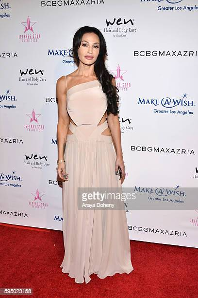 Jolene Blalock attends the Inaugural Fashion Show Benefiting MakeAWish with BCBGMAXAZRIA and Celebrity Host Brad Goreski at The Taglyan Complex on...