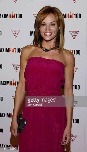 Jolene Blalock during Maxim Hot 100 Party Arrivals at Yamashiro in Hollywood California United States