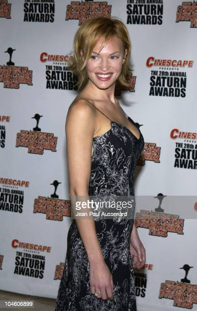 Jolene Blalock during The 28th Annual Saturn Awards Arrivals at St Regis Hotel in Century City California United States