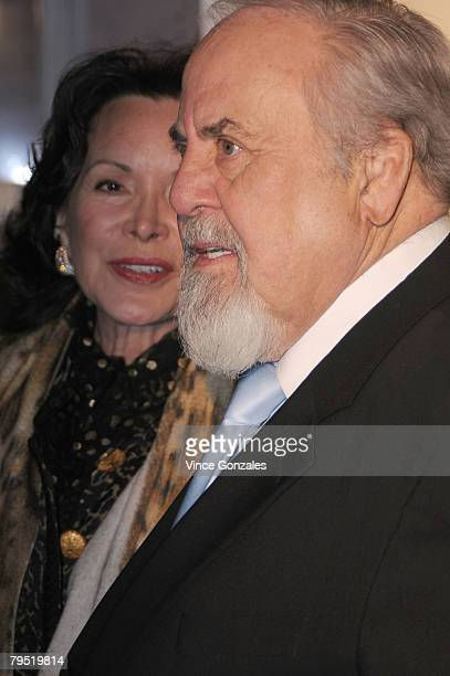 Jolene Brand and George Schlatter attend AARP The Magazine's seventh annual Movies for Grown Ups Awards at the Hotel Bel Air February 4 2008 in Los...