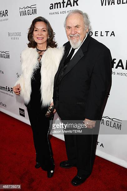 Jolene Brand and producer George Schlatter attend the 2013 amfAR Inspiration Gala Los Angeles presented by MAC Viva Glam at Milk Studios on December...