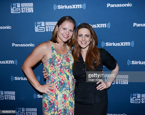 Jolene O'Guin and chief operating officer at The Howard Stern Show Channels Marci Turk attend the Howard 101 ComicCon Party at Bootleggers on July 24...