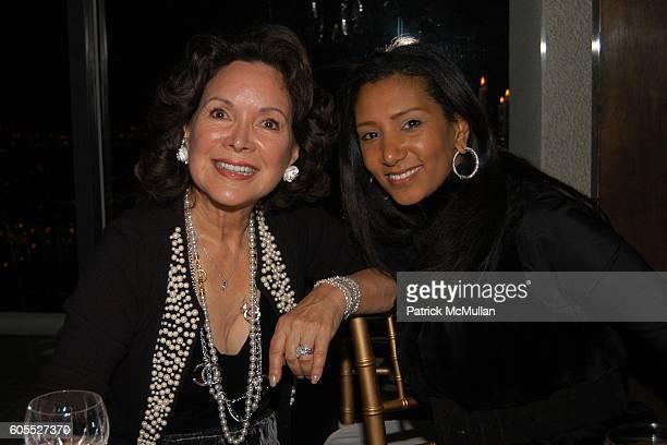 Jolene Schlatter and Gelila Assefa attend Nikki Haskell Dinner at Nikki Haskell Penthouse on January 13 2006 in Beverly Hills CA