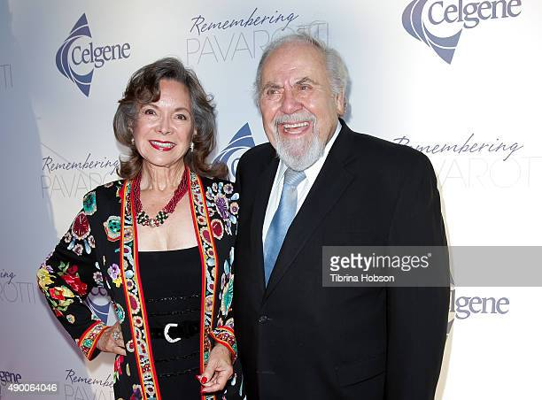 Jolene Schlatter and George Schlatter attend the Remembering Pavarotti Benefit Concert and Gala featuring Andrea Bocelli and Renee Fleming at The...