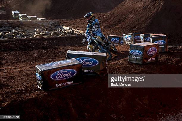 Jolene Van Vugt in action during the Women's Enduro X at the X Games on April 18 2013 in Foz do Iguacu Brazil