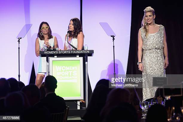 Jolene Van Vugt poses onstage during the Women's Sports Foundation's 35th Annual Salute to Women In Sports awards a celebration and a fundraiser to...