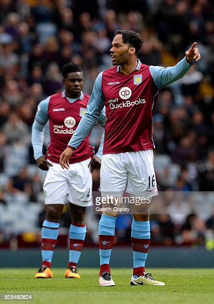 Joleon Lescott of Aston Villa looks on during the Barclays Premier League match between Aston Villa and Southampton at Villa Park on April 23 2016 in...