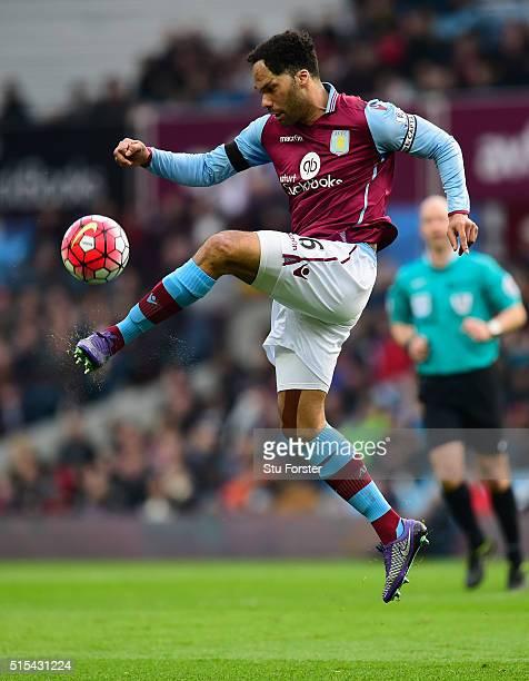 Joleon Lescott of Villa in action during the Barclays Premier League match between Aston Villa and Tottenham Hotspur at Villa Park on March 13 2016...