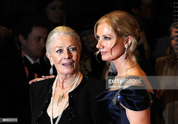 Joley Richardson and Vanessa Redgrave arrives at the Orange British Academy Film Awards 2010 at the Royal Opera House on February 21 2010 in London...