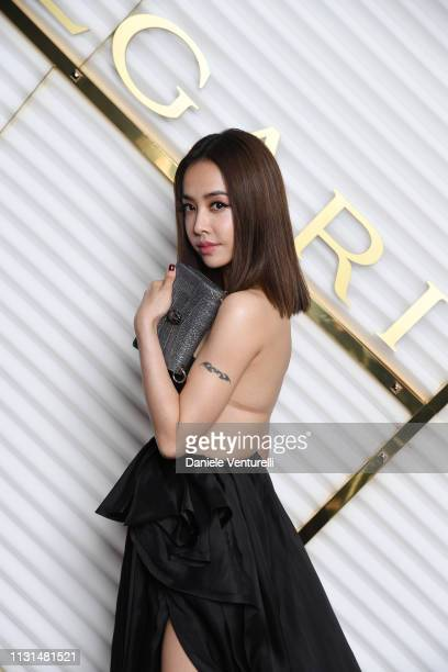 Jolin Tsai attends BVLGARI Dinner Party Milan Fashion Week FW19 on February 22 2019 in Milan Italy