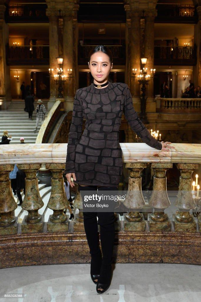 Jolin Tsai attends the Balmain show as part of the Paris Fashion Week Womenswear Spring/Summer 2018 on September 28, 2017 in Paris, France.