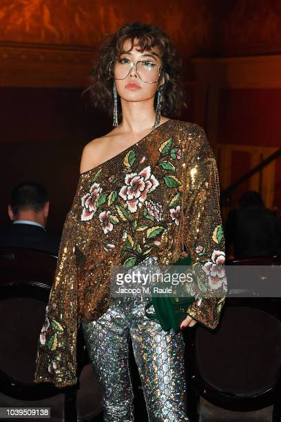 Jolin Tsai attends the Gucci show during Paris Fashion Week Spring/Summer 2019 on September 24 2018 in Paris France