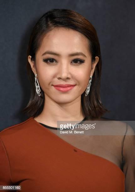 Jolin Tsai attends the launch of the new L'Oreal Paris X Balmain Paris lipstick collection at L'Ecole de Medecine on September 28 2017 in Paris France