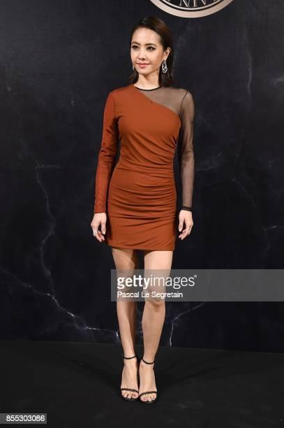 Jolin Tsai attends the L'Oreal Paris X Balmain event as part of the Paris Fashion Week Womenswear Spring/Summer 2018 on September 28 2017 in Paris...