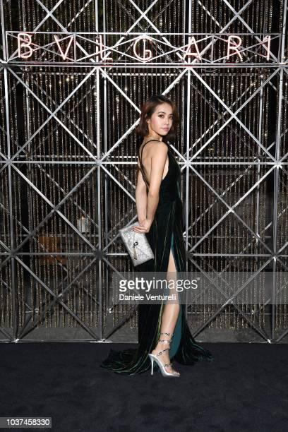 Jolin Tsai is seen at the Bulgari Milan SS 2019 Dinner Party on September 21 2018 in Milan Italy