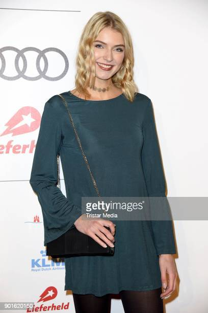 Jolina Fust attends the Channel Aid Concert at Elbphilharmonie on January 5 2018 in Hamburg Germany