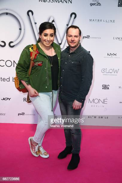 Jolina Mennen and guest attend the GLOW The Beauty Convention on May 13 2017 in Duesseldorf Germany