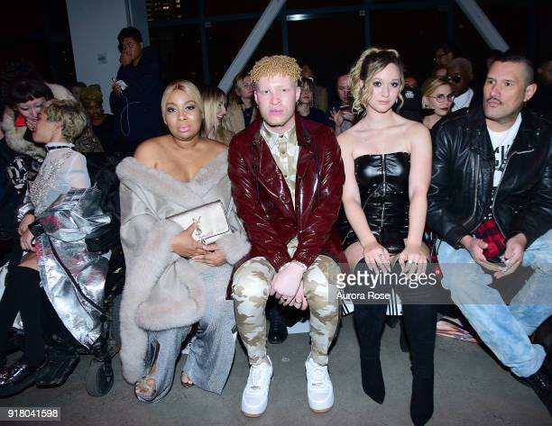 Joline Ross and Shaun Ross attend The Blonds Runway show during New York Fashion Week at Spring Studios on February 13 2018 in New York City