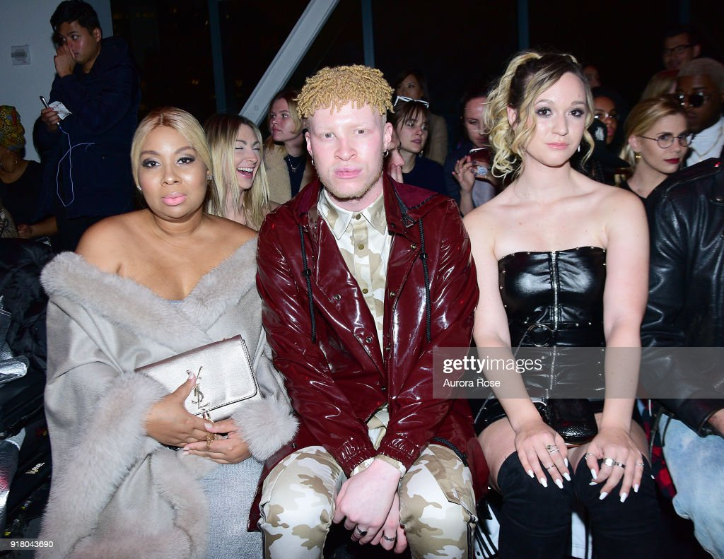Joline Ross and Shaun Ross attend The Blonds Runway show during New York Fashion Week at Spring Studios on February 13, 2018 in New York City.