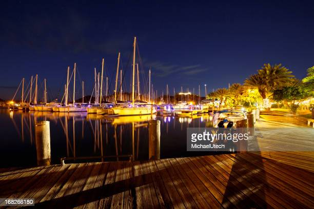 Jolly Harbour, Antigua At Night