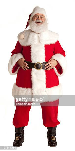 Jolly Santa Claus on White Background.