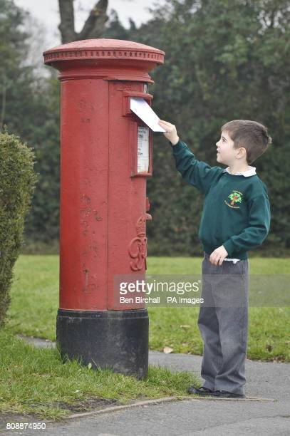 Jolyon Ellis aged six posts his hand made invitation addressed to Prince William and Miss Catherine Middleton requesting their attendance for...
