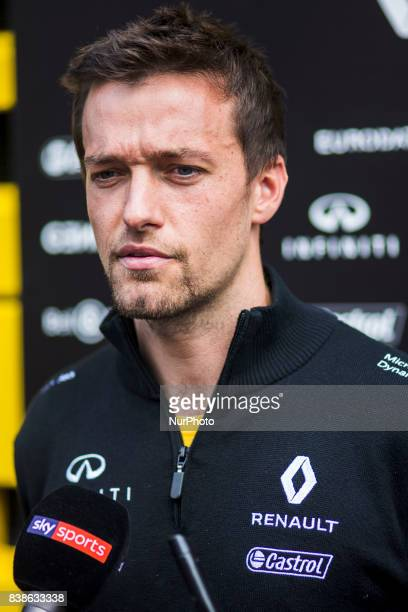 Jolyon from Great Britain team Renault Sport F1 team during the Formula One Belgian Grand Prix at Circuit de SpaFrancorchamps on August 24 2017 in...