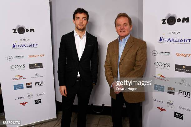 Jolyon Palmer and Jonathan Palmer attend the Zoom F1 Charity auction on February 3 2017 in London United Kingdom