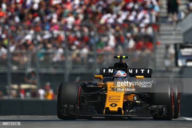 Jolyon Palmer of Great Britain driving the Renault Sport Formula One Team Renault RS17 on track during the Canadian Formula One Grand Prix at Circuit...