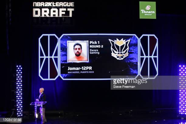 Jomar12PR gets picked during the NBA 2K League Draft on February 22 2020 at Terminal 5 in New York New York NOTE TO USER User expressly acknowledges...