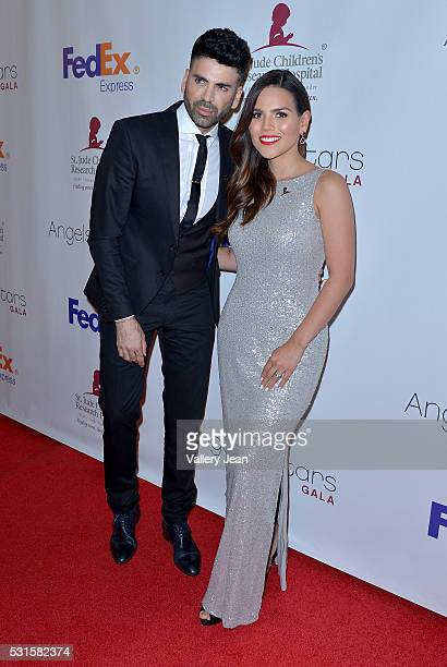 Jomari Goyso and Karina Banda attends the FedEx / St Jude Angels and Stars Gala at Hotel InterContinental on May 14 2016 in Miami Florida