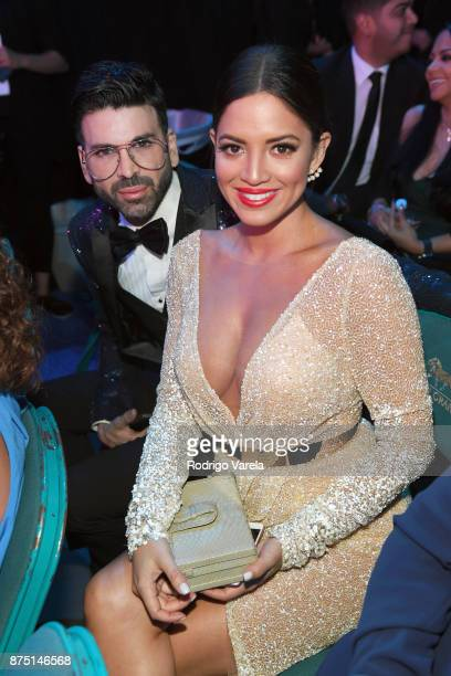 Jomari Goyso and Pamela Silva Conde attend The 18th Annual Latin Grammy Awards at MGM Grand Garden Arena on November 16 2017 in Las Vegas Nevada
