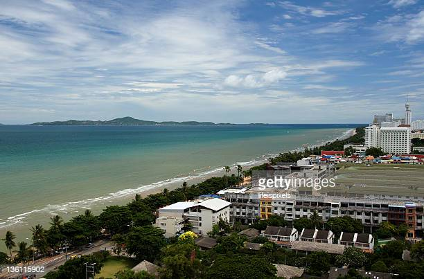 jomtian beach, chonburi, thailand - lifeispixels stock pictures, royalty-free photos & images