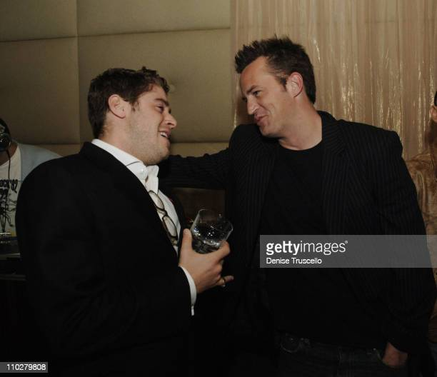 Jon Abrahams and Matthew Perry during Standing Still Release Party Hosted by Grey Goose Vodka Vanity Fair and Insomnia Entertainment at Jet Nightclub...