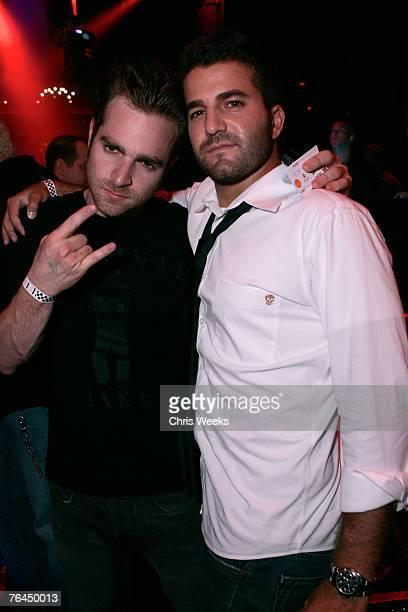 LAS VEGAS NEVADA AUGUST 31 Jon Alagem and David Katzenberg attend the grand opening of LAX Nightclub Las Vegas on August 31 2007 in Las Vegas Nevada