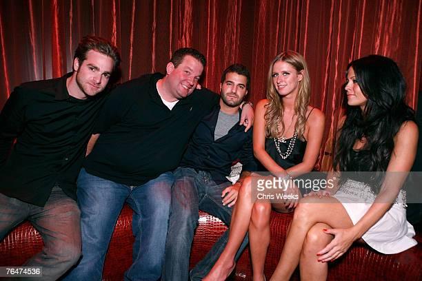 Jon Alagem Jeff Beacher David Katzenberg Nicky Hilton and Allison Melnick attends LAX Nightclub Las Vegas grand opening weekend on September 1 2007...