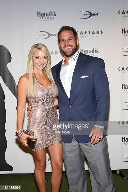 Jon and Julie Dorenbos attend a retirement dinner hosted by Caesars Atlantic City for former NFL Quarterback Donovan McNabb who lead the Philadelphia...