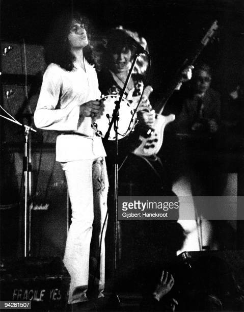 Jon Anderson and Chris Squire of Yes perform on stage at De Doelen on January 23rd 1972 in Rotterdam Netherlands